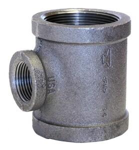 3/4 x 1/4 x 3/4 in. Threaded x NPS 150# Galvanized Malleable Iron Reducing Tee GTFBF