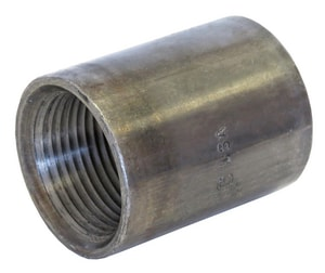 Capitol Manufacturing 2-1/2 in. Threaded Steel Tapered Black Malleable Coupling BSCTTL