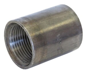 Capitol Manufacturing 2-1/2 in. Threaded Black Half Steel Tapered Coupling BSHCTTL