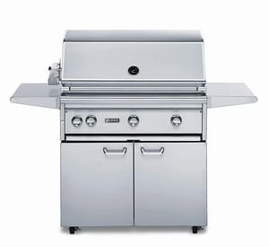Lynx 36 in. 3-Burner Propane Outdoor Freestanding Sear Grill in Stainless Steel LL36PSFR2LP