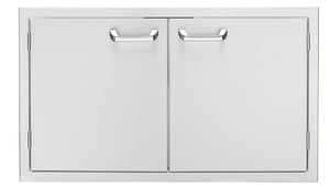 Lynx Sedona Series 36 in. Double Access Door with Removable Door Shelve in Stainless Steel LLDR636