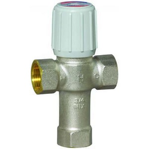 Honeywell AM-1 Series™ NPT Hydronic Mixing Valve Nickel Plated Brass, Rubber and Plastic 150 psi 145F HAM1021LF