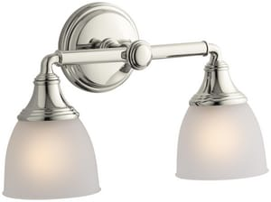 KOHLER Devonshire® Double Wall Sconce in Vibrant Polished Nickel K10571-SN