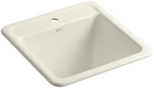 Kohler Park Falls™ 1-Hole 1-Bowl Laundry Sinks in Almond K19022-1-47