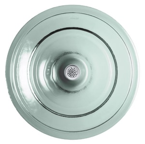 KOHLER Spun Glass® Drop-in Vessel in Translucent Dew K2276-TG2