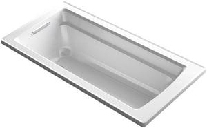 Kohler Archer® 66 x 32 in. Soaker Drop-In Bathtub with Reversible Drain in White K1948-0