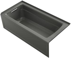 Kohler Archer® 66 x 32 in. Soaker Alcove Bathtub Left Drain in Thunder™ Grey K1948-LA-58