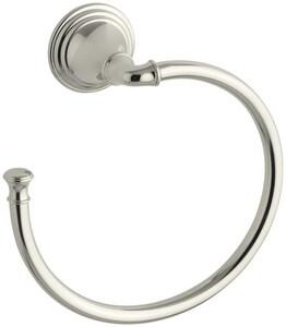 Kohler Devonshire® Round Open Towel Ring in Vibrant Polished Nickel K10557-SN