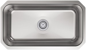 Kohler Undertone® 1-Bowl Stainless Steel Undermount Kitchen Sink with Center Drain K5290-NA