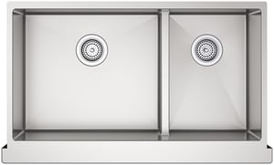 Kohler Strive® 2-Bowl Stainless Steel Apron Front Undermount Kitchen Sink with Rear Drain K5416-NA