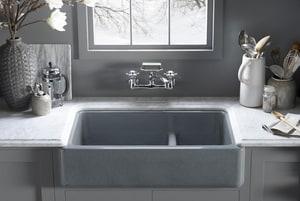 Kohler Whitehaven® 2-Bowl Undercounter Short Apron Kitchen Sink White K6426