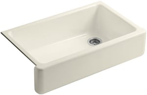 Kohler Whitehaven® 36 x 22 in. Single Bowl Drop-In Kitchen Sink in Almond K6489-47