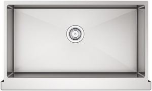 KOHLER Strive® 35-1/2 x 21-1/4 in. No-Hole Single Bowl Apron Front and Undermount Kitchen Sink in Stainless Steel K5415-NA