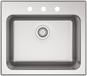 Kohler Ballad™ 25 x 22 in. Top Mount Laundry Sink in Stainless Steel K5798-3-NA