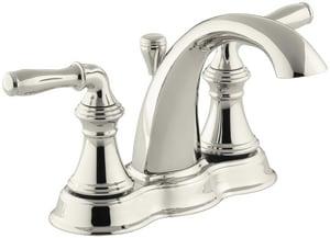 KOHLER Devonshire® Two Handle Centerset Bathroom Sink Faucet in Vibrant Polished Nickel K393-N4-SN