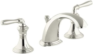 KOHLER Devonshire® Two Handle Widespread Bathroom Sink Faucet in Vibrant Polished Nickel K394-4-SN