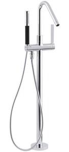 Kohler Stillness® Single Lever Handle Floor Mount Filler in Polished Chrome Trim Only KT97344-4-CP