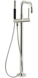 Kohler Purist® Single Lever Handle Floor Mount Filler in Vibrant Polished Nickel Trim Only KT97328-4-SN