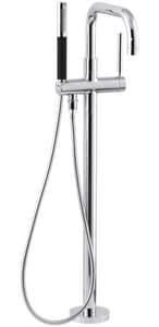Kohler Purist® Single Lever Handle Floor Mount Filler in Polished Chrome Trim Only KT97328-4-CP