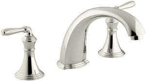 Kohler Devonshire® Two Handle Roman Tub Faucet in Vibrant Polished Nickel Trim Only KT398-4-SN