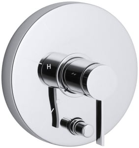 Kohler Stillness® Shower Handle Trim with Diverter and Single Lever Handle in Polished Chrome KT1004-4