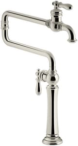 Kohler Artifacts® Single Handle Lever Handle Pot Filler in Vibrant Polished Nickel K99271-SN