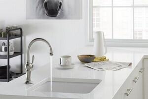 KOHLER Artifacts® Single Lever Handle Bar Faucet in Vibrant Stainless K99264-VS
