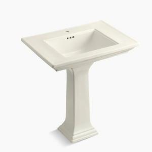 Kohler Memoirs® 1-Hole Bathroom Rectangular Lavatory Sink with Rear Center Drain K2268-1