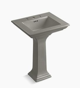 Kohler Memoirs® 3-Hole Pedestal Bathroom Sink with Overflow Drain in Cashmere K2344-8-K4