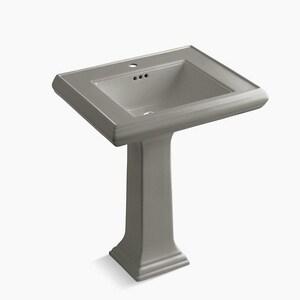 Kohler Memoirs® 1-Hole Bathroom Rectangular Lavatory Sink with Rear Center Drain in Cashmere K2258-1-K4