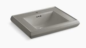 Kohler Memoirs® 1-Hole Bathroom Rectangular Lavatory Sink with Rear Center Drain in Cashmere K2259-1-K4
