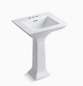 Kohler Memoirs® Pedestal Bathroom Sink in White K2344-4
