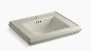 Kohler Memoirs® 1-Hole Bathroom Rectangular Lavatory Sink with Rear Center Drain in Sandbar K2259-1-G9