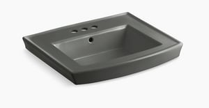 Kohler Archer® 3-Hole Pedestal Lavatory Sink Basin in Thunder Grey K2358-4-58