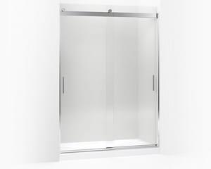 KOHLER Levity® 82 x 59-5/8 in. Frameless Sliding Shower Door in Bright Polished Silver K706013-L-SHP