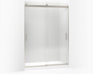 KOHLER Levity® 82 x 59-5/8 in. Frameless Sliding Shower Door in Brushed Nickel K706013-L-NX