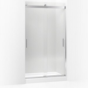 Kohler Levity® 82 x 47-5/8 in. Frameless Sliding Shower Door in Bright Polished Silver K706011-L-SHP