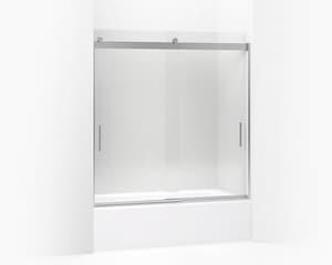 Kohler Levity® 59-5/8 in. Frameless Sliding Bath Door in Bright Polished Silver K706003-L-SHP
