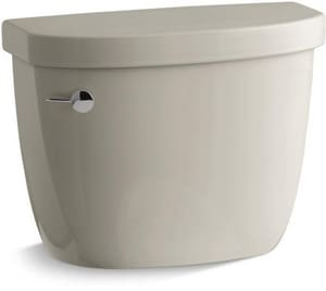 Kohler Cimarron® 1.28 gpf Toilet Tank in Sandbar with Left-Hand Trip Lever K4166-U-G9