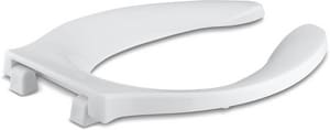 KOHLER Stronghold® Elongated Open Front Toilet Seat in White K4731-C-0