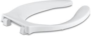KOHLER Stronghold® Elongated Open Front Toilet Seat in White K4731-SC-0