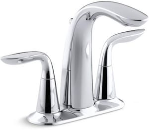 KOHLER Refinia® Two Handle Centerset Bathroom Sink Faucet in Polished Chrome K5316-4-CP