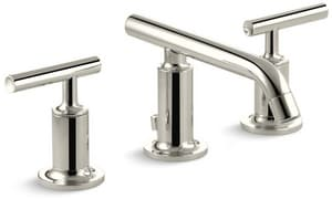 Kohler Purist® Two Handle Widespread Bathroom Sink Faucet in Vibrant Polished Nickel K14410-4-SN