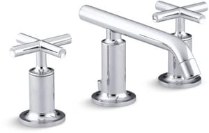Kohler Purist® Two Handle Widespread Bathroom Sink Faucet in Polished Chrome K14410-3-CP