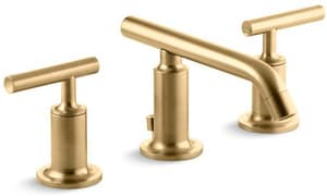 Kohler Purist® Two Handle Widespread Bathroom Sink Faucet in Vibrant Moderne Brushed Gold K14410-4-BGD