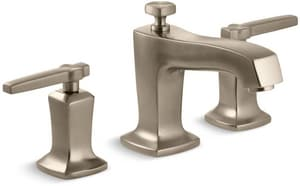 Kohler Margaux® Two Handle Widespread Bathroom Sink Faucet in Vibrant Brushed Bronze K16232-4-BV