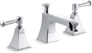 Kohler Memoirs® Stately 3-Hole Widespread Bathroom Sink Faucet with Double Metal Lever Handle K454-4S