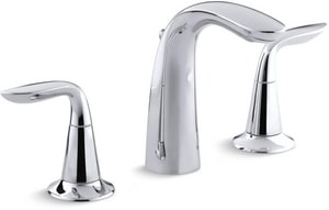 KOHLER Refinia® Two Handle Widespread Bathroom Sink Faucet in Polished Chrome K5317-4-CP