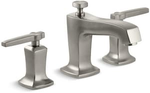 Kohler Margaux® Two Handle Widespread Bathroom Sink Faucet in Vibrant Brushed Nickel K16232-4-BN