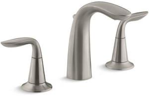 KOHLER Refinia® Two Handle Widespread Bathroom Sink Faucet in Vibrant Brushed Nickel K5317-4-BN